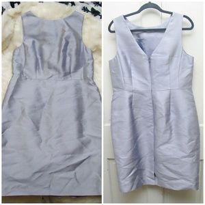 Talbots powder blue dress silk Sleeveless
